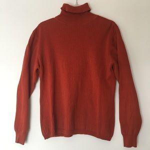 💥 Rust Colour Cotton Turtleneck L'OFFICIEL